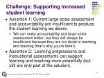 challenge supporting increased student learning