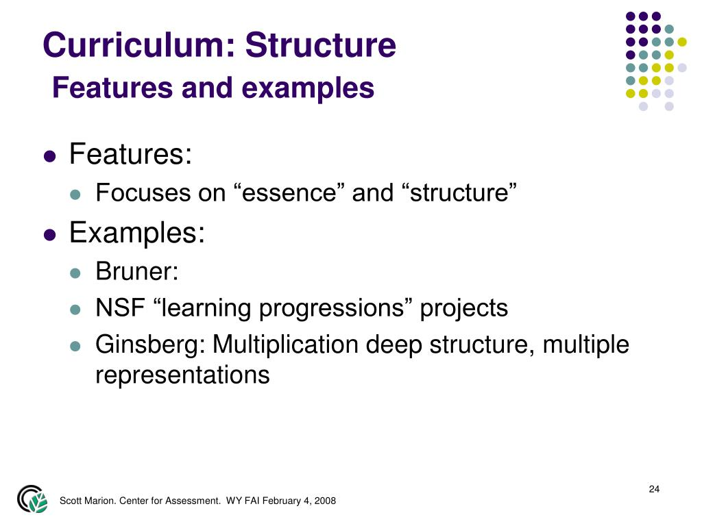 Curriculum: Structure