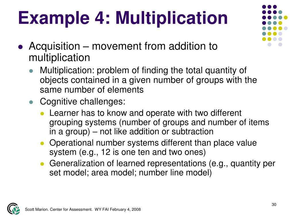 Example 4: Multiplication