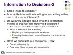 information to decisions 2