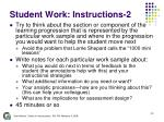 student work instructions 2