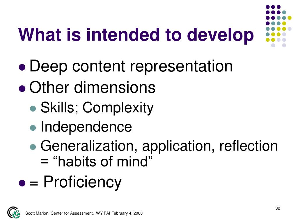 What is intended to develop