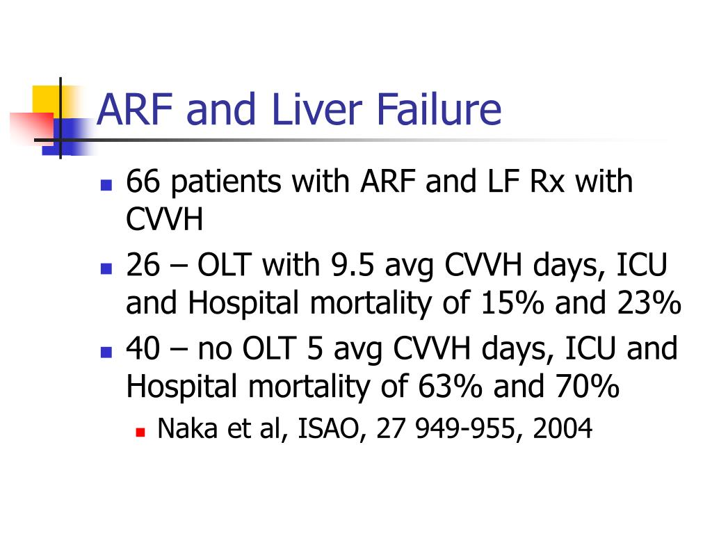 ARF and Liver Failure