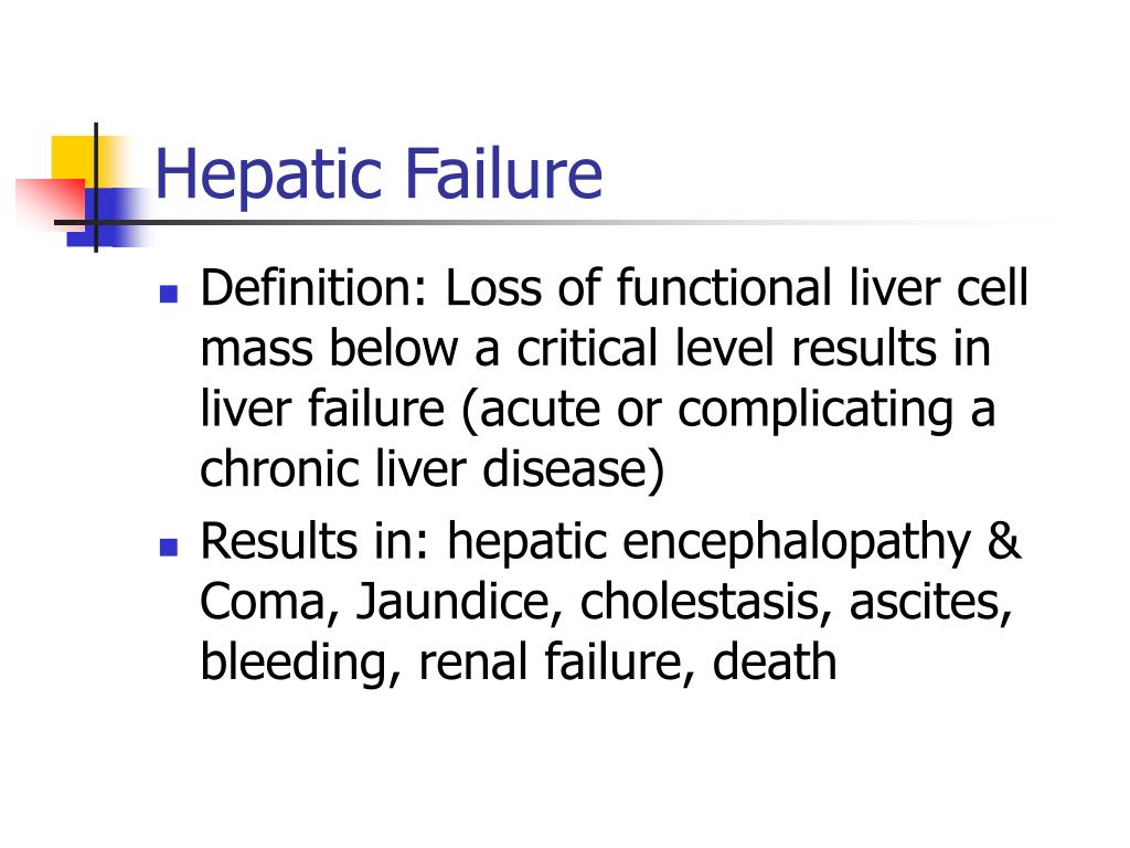 Hepatic Failure