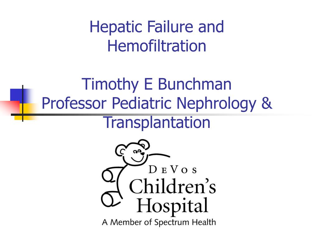 Hepatic Failure and Hemofiltration