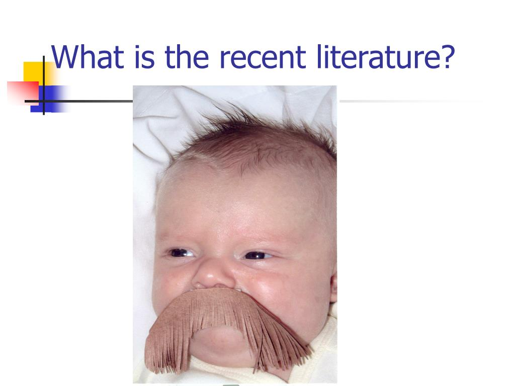 What is the recent literature?