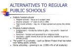 alternatives to regular public schools