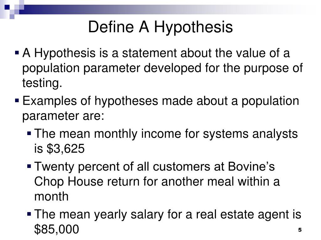 Define A Hypothesis