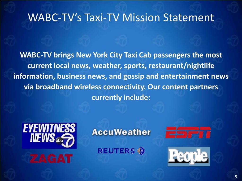 WABC-TV's Taxi-TV Mission Statement