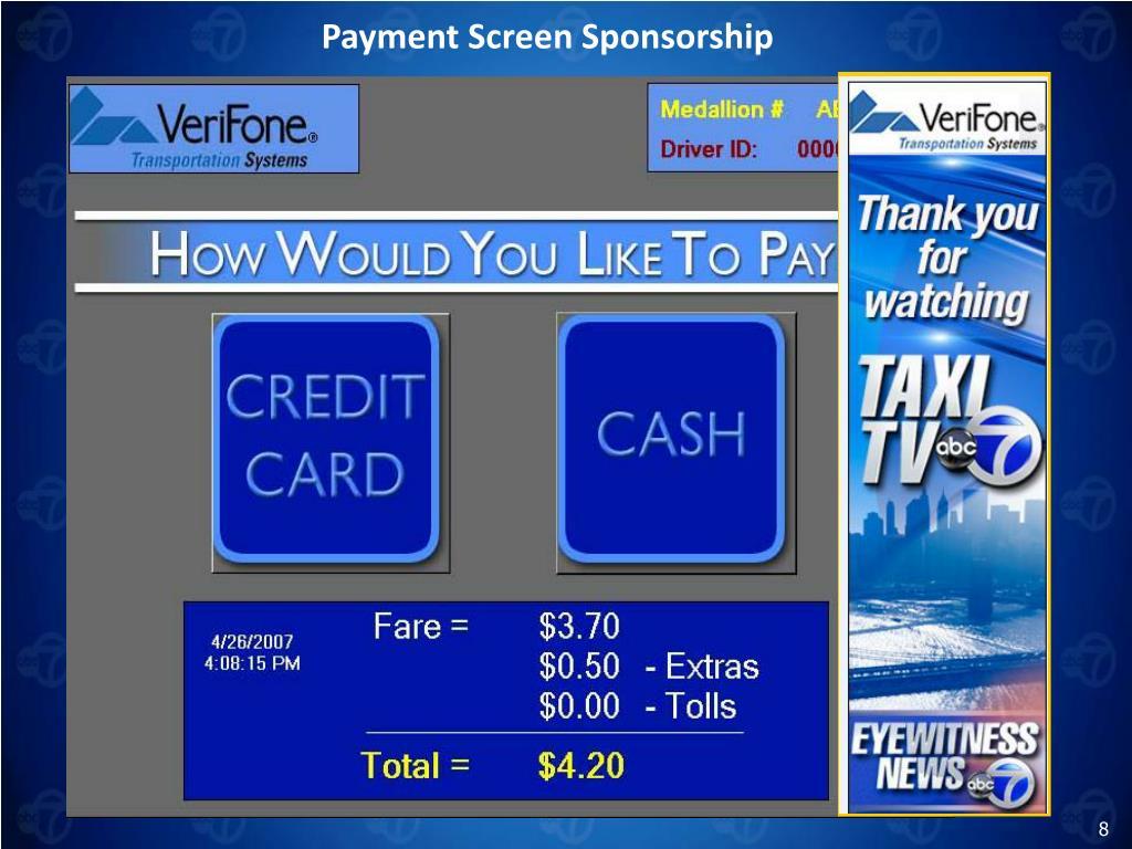 Payment Screen Sponsorship