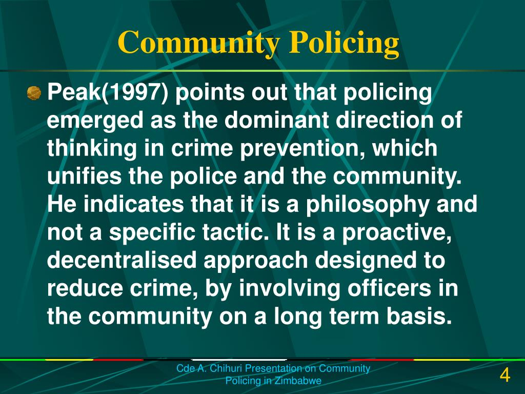 Community policing term papers
