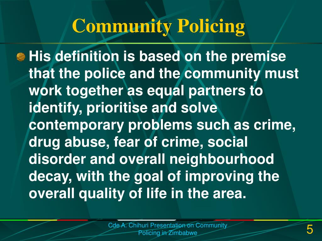 essay community based policing Photo: jis photographer police post based on the border of tredegar park and gravel heights, in the st catherine north police division the post was established in 2010, following a series of gang related murders in the communities.