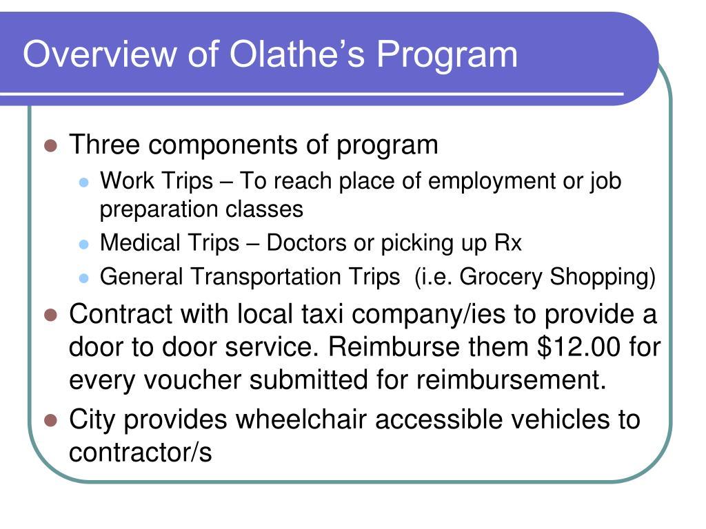 Overview of Olathe's Program