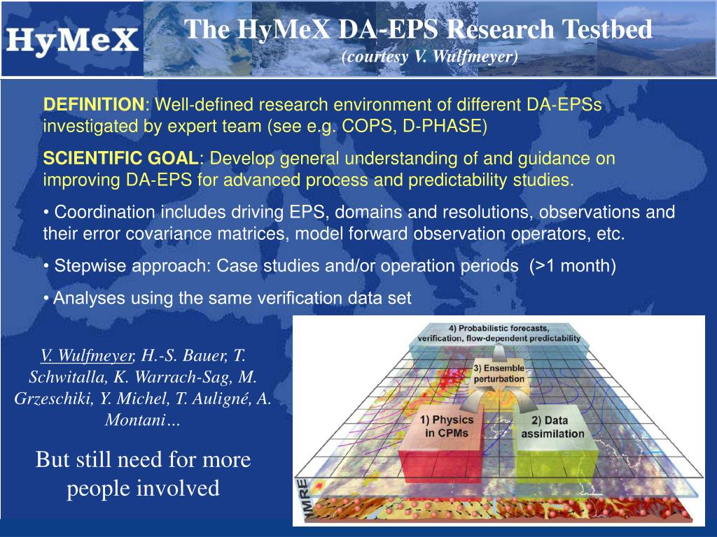 The HyMeX DA‐EPS Research Testbed