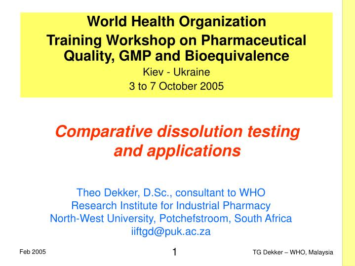 Comparative dissolution testing and applications l.jpg
