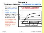 example 3 clarithromycin tablets proportional formulations