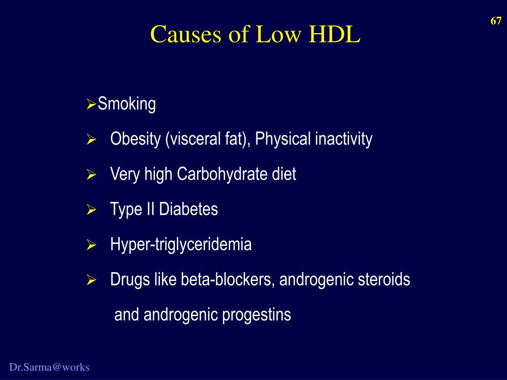 Causes of Low HDL