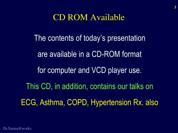 Cd rom available