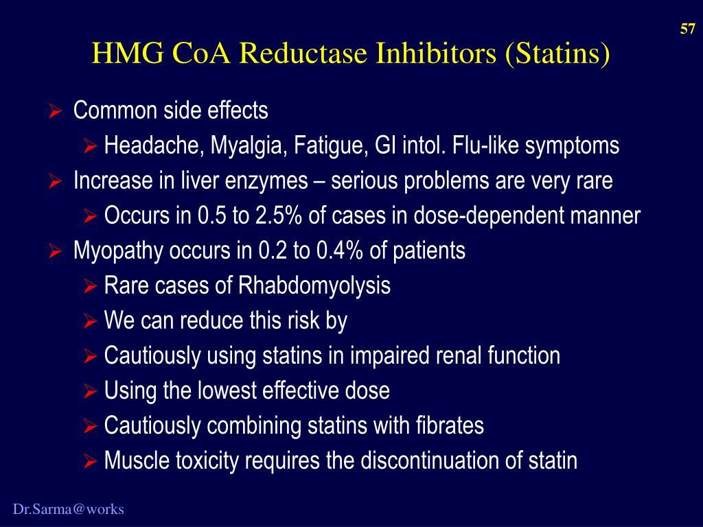 HMG CoA Reductase Inhibitors (Statins)
