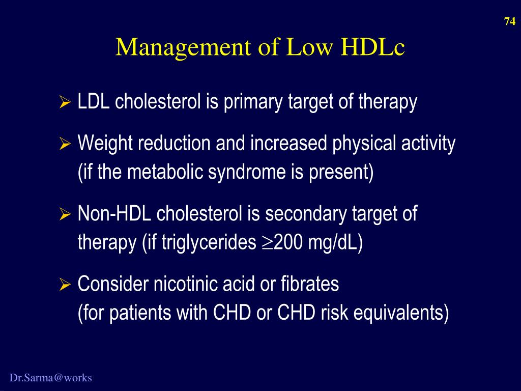 Management of Low HDLc