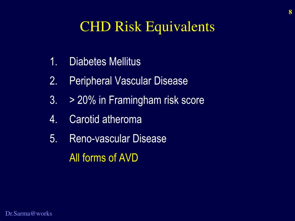 CHD Risk Equivalents