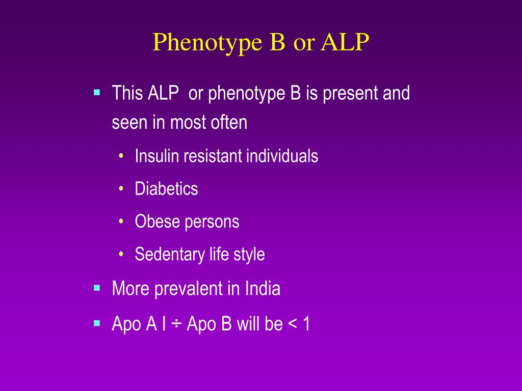 Phenotype B or ALP