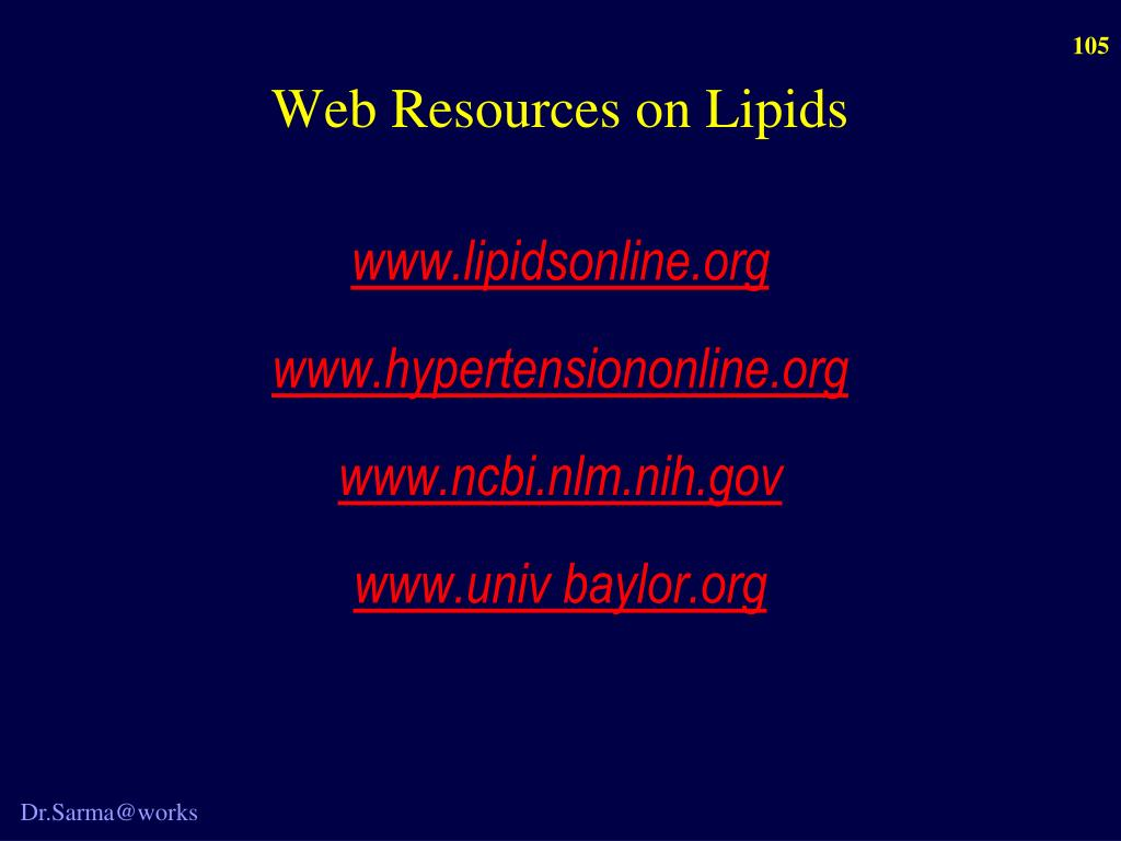 Web Resources on Lipids