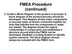 fmea procedure continued