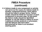fmea procedure continued11
