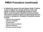 fmea procedure continued13