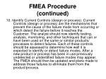 fmea procedure continued15