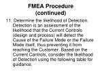 fmea procedure continued16