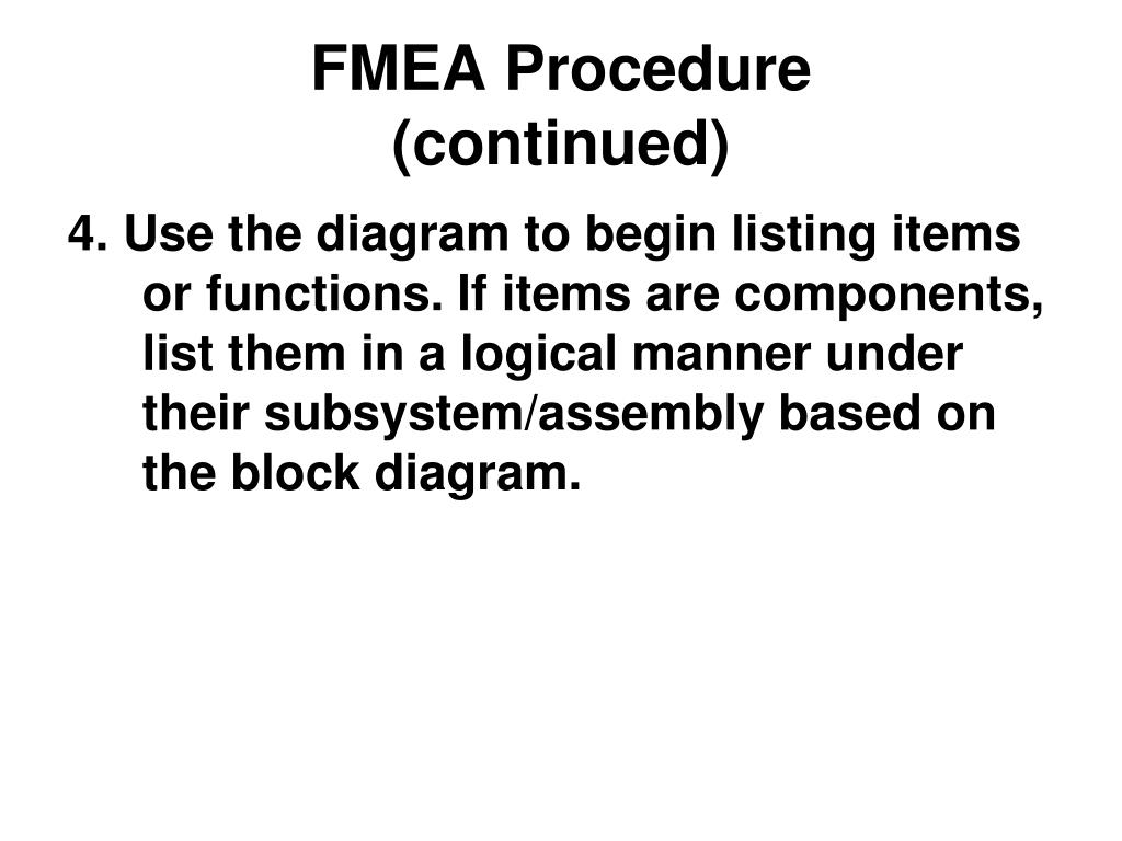 FMEA Procedure