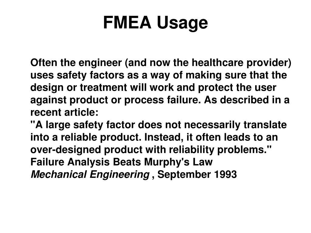 FMEA Usage
