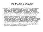 healthcare example