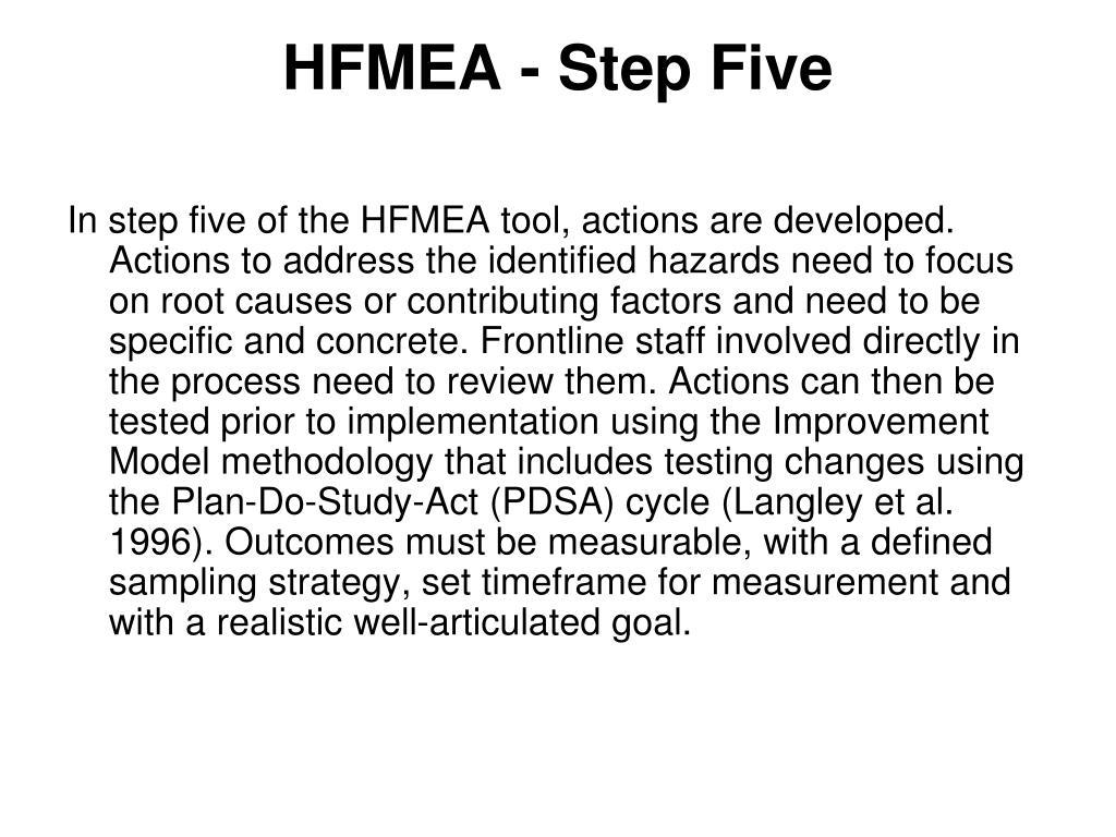 HFMEA - Step Five