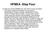 hfmea step four