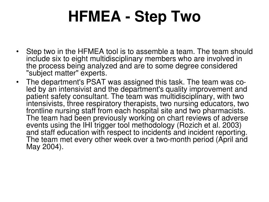 HFMEA - Step Two