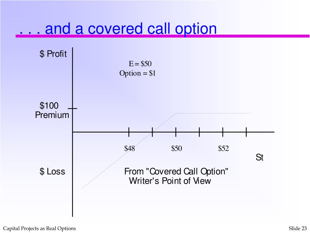 . . . and a covered call option