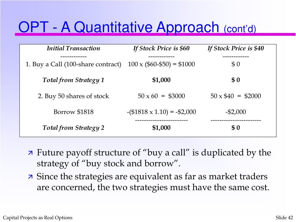 OPT - A Quantitative Approach