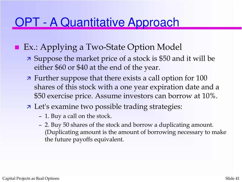 OPT - A Quantitative Approach