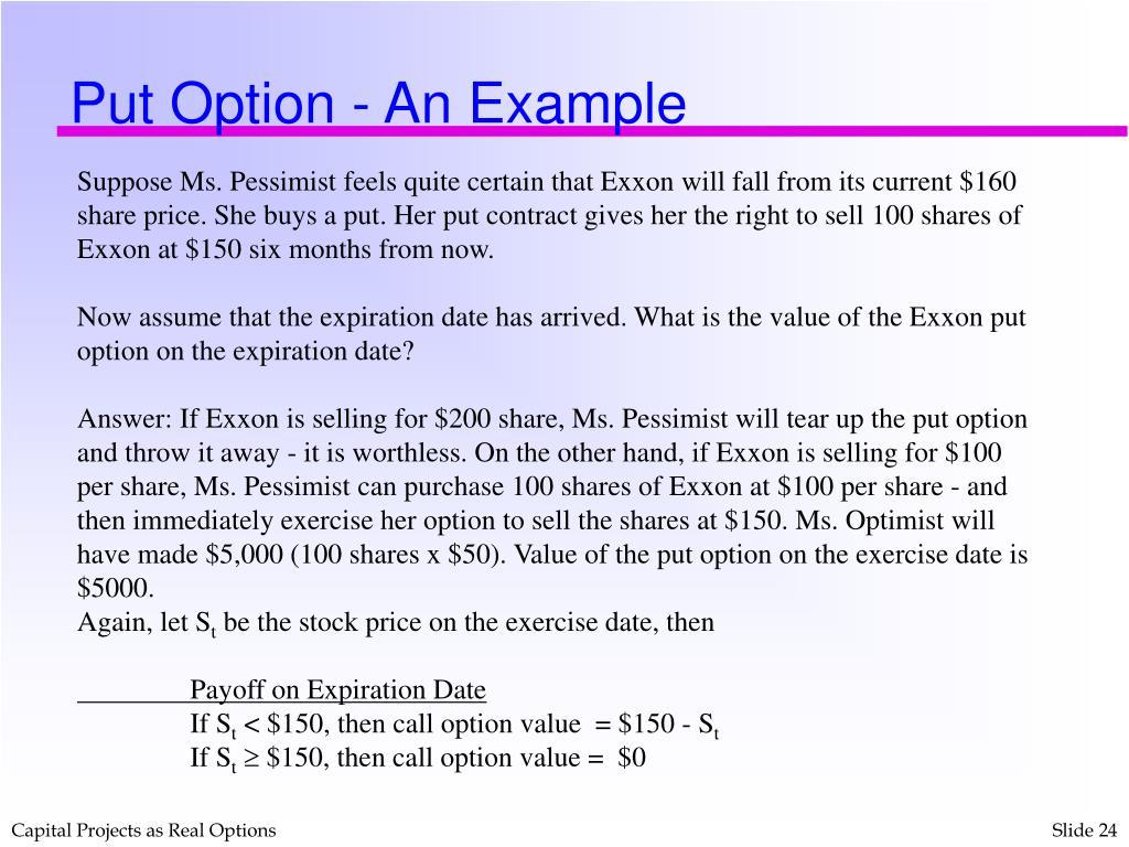 Put Option - An Example