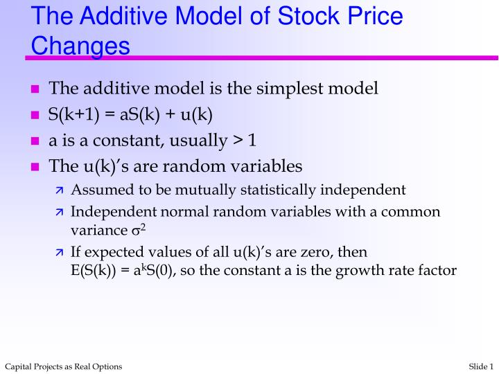 The additive model of stock price changes l.jpg