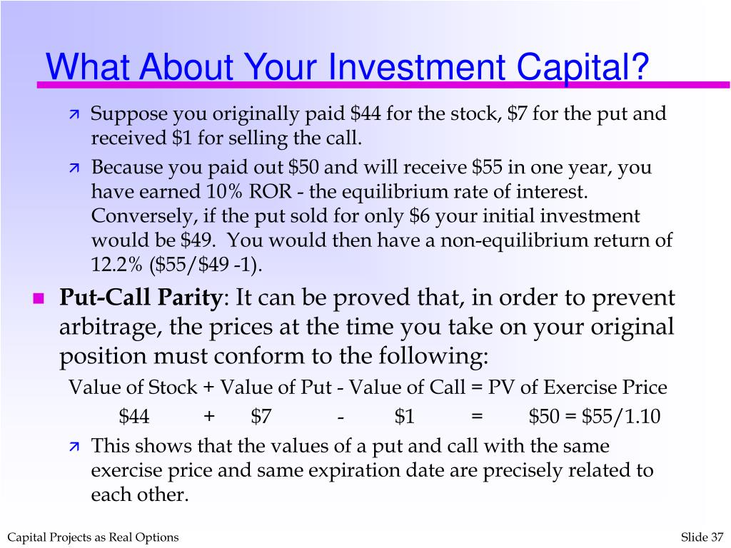 What About Your Investment Capital?