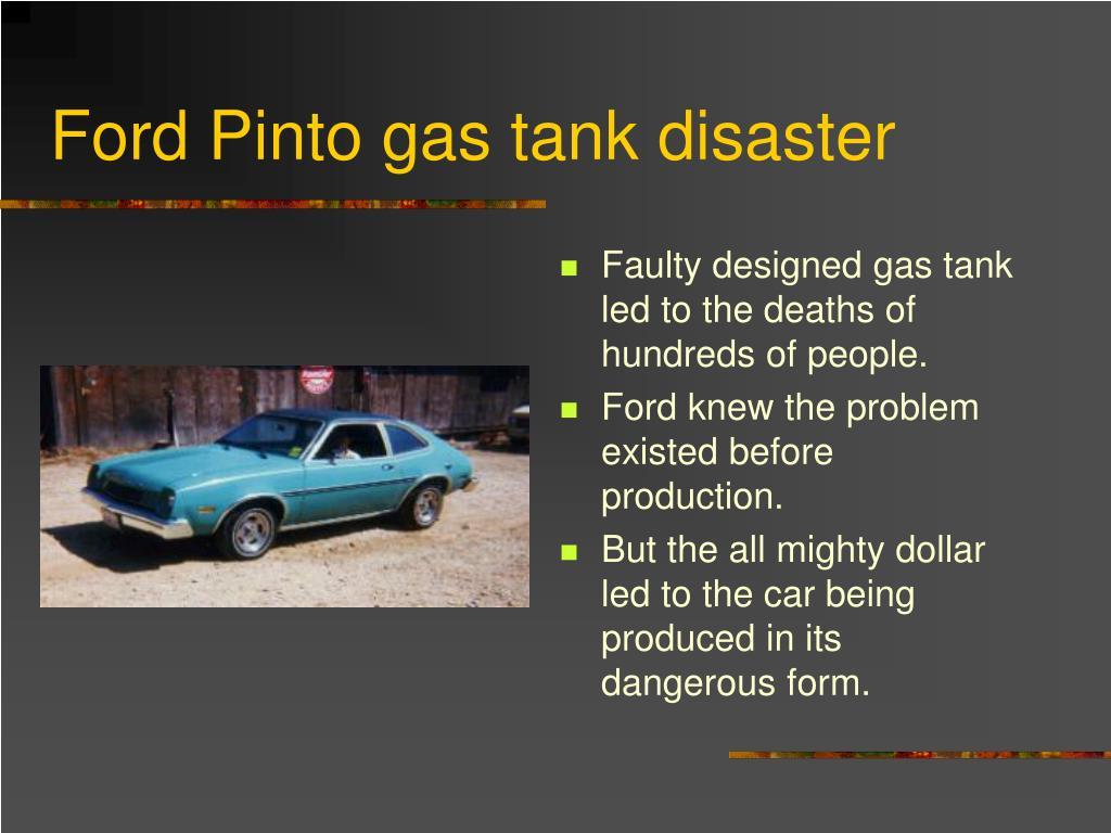 Ford Pinto gas tank disaster