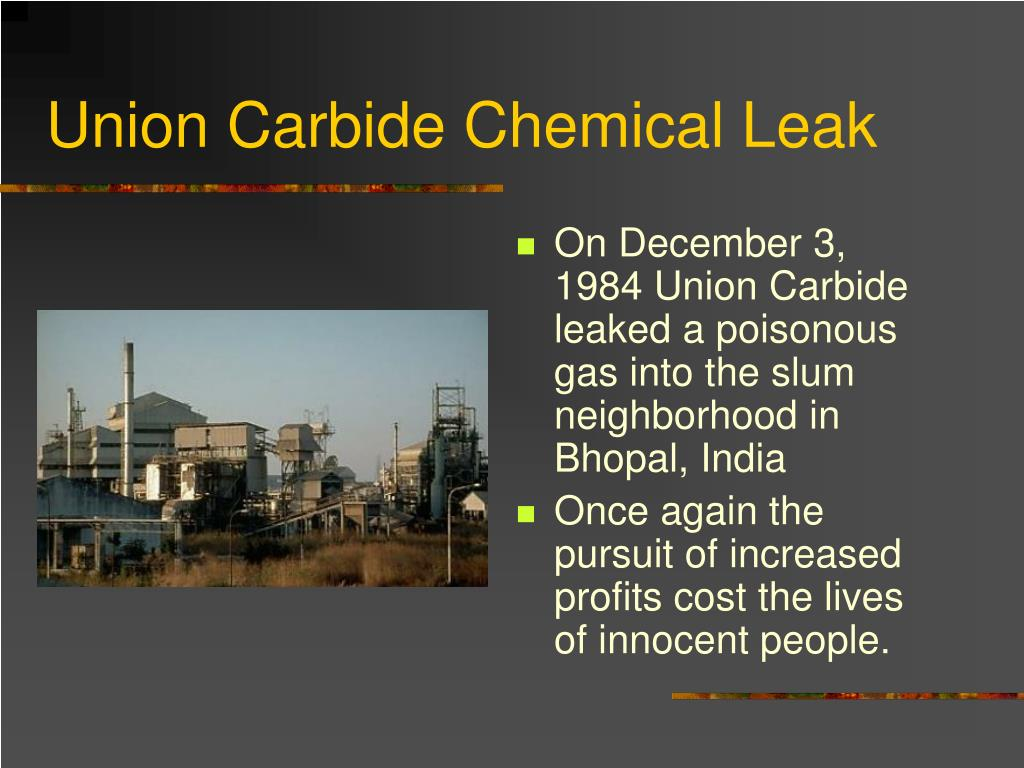 Union Carbide Chemical Leak
