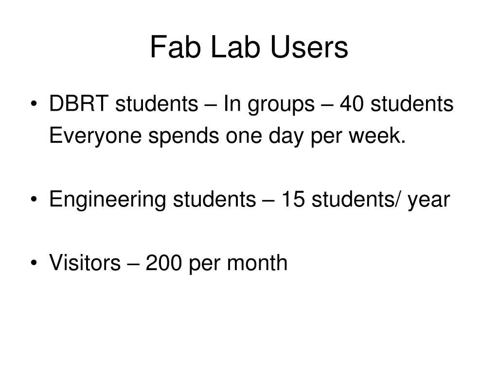 Fab Lab Users