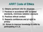 arrt code of ethics7