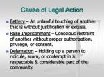 cause of legal action22