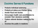 doctrine serves 6 functions